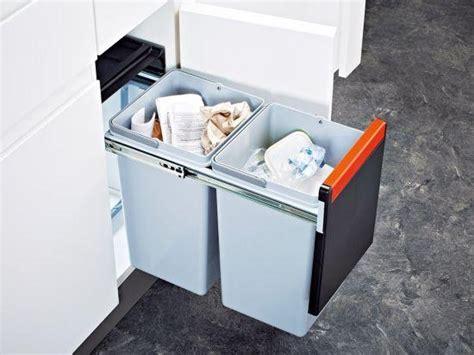 poubelle cuisine encastrable sous evier franke sorter cube 30l le top de la poubelle sous évier