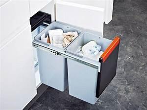 Poubelle Cuisine Sous Evier : franke sorter cube 30l le top de la poubelle sous vier ~ Carolinahurricanesstore.com Idées de Décoration