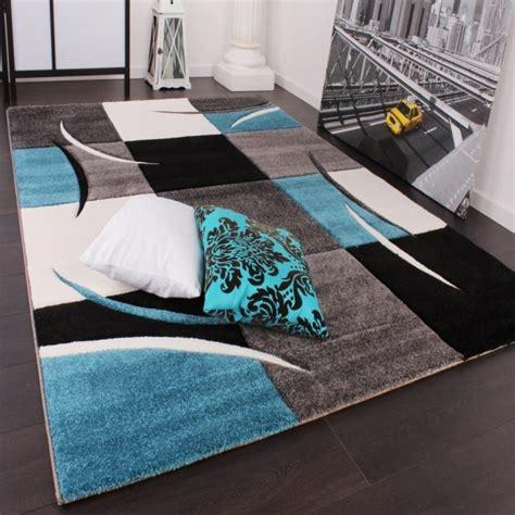 tapis de salon bleu turquoise et orange chaios com