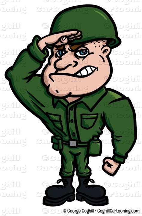 Soldier Clipart Soldier Character Clip Stock Illustration By