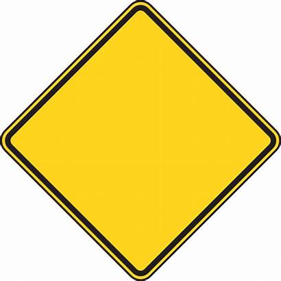 Warning Blank Sign Clipart Clip Construction Yellow