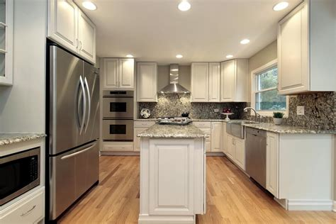 narrow kitchen design with island 36 quot brand new quot all white kitchen layouts designs photos 7061