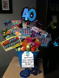 Funny 40th Birthday Gift Baskets Ideas