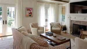 beadboard living room patterned sofas cottage living room material girls