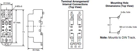 8 Pin Relay Configuration Diagram by My Gs Miniature Power Relays Dimensions Omron Industrial