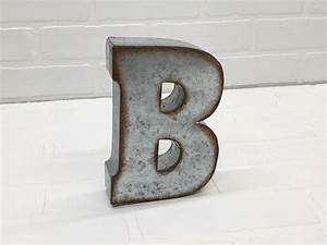 24 best 7quot galvanized metal letters images on pinterest With galvanized letter b