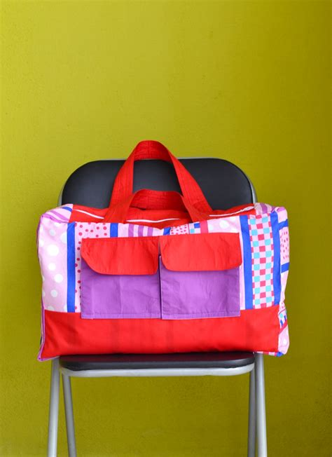 duffle bag  sewing pattern  pillow cover