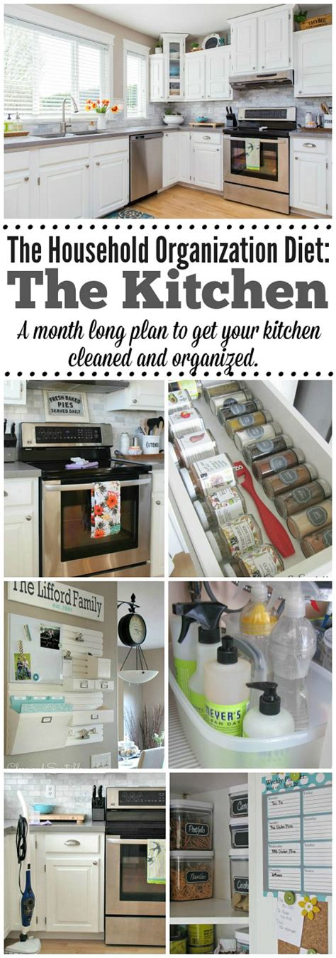 how to keep kitchen clean and organized the 2016 household organization diet clean and scentsible 9465
