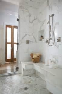 calcutta floor tiles calcutta gold hex tiles transitional bathroom denman bennett