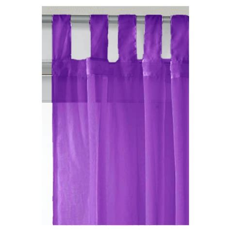 tab top voile curtain panel purple 59 x 72 40303