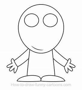 Drawing an alien cartoon