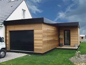 Kit Extension Bois Toit Plat : extension garage bois toit plat decoration de chambre extension garage bois 2018 avec avec ~ Farleysfitness.com Idées de Décoration