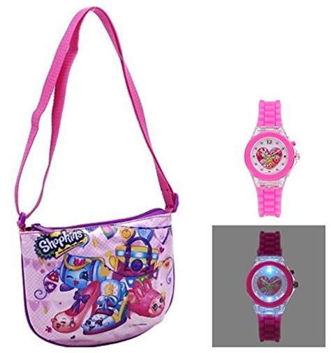 purse lights up inside shopkins girls crossbody purse light up watch set kids