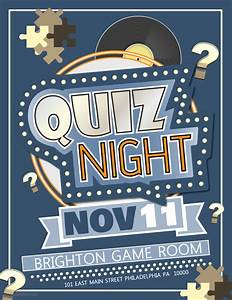 quiz night competition poster template contest posters With trivia night poster template