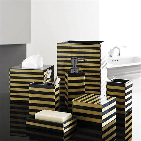 gold black luxury bath accessory sets