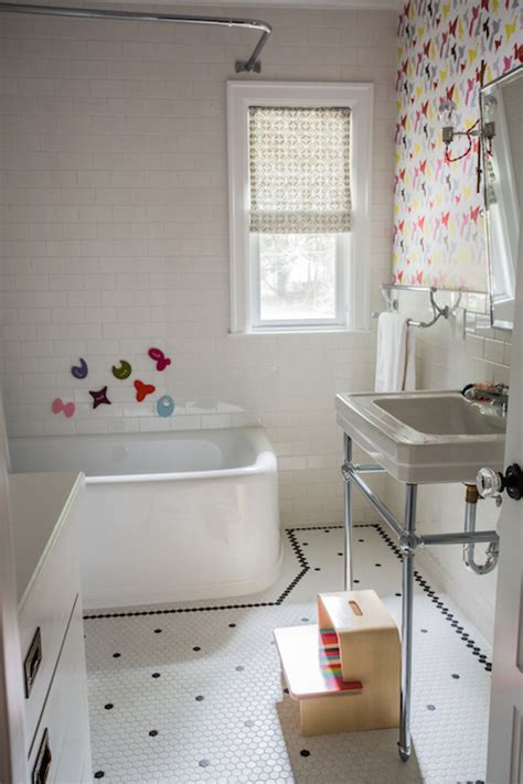 Vintage Black And White Bathroom Ideas by Bathroom With Turquoise Gingham Shower Curtain And