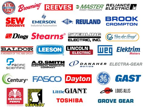Electric Motor Brands line card northwest electric motor company