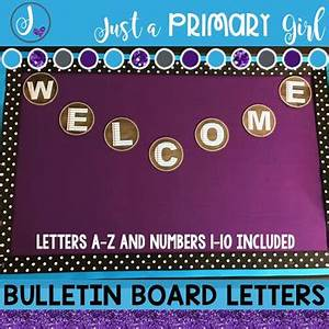 bulletin board letters paper with chalk by just a With paper letters for bulletin board