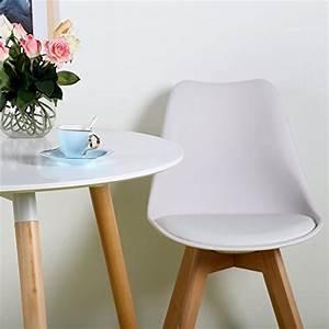 Lot de 4 chaises de cuisine en bois eggreetm retro faux for Deco cuisine avec chaise couleur pied bois
