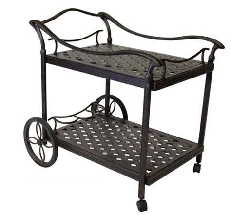dwl cast aluminum patio furniture accessories tea cart