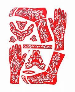 Henna Muster Schablone : xl henna tattoo schablone vorlage muster blumen arm fu mehndi body paint orange ebay ~ Frokenaadalensverden.com Haus und Dekorationen