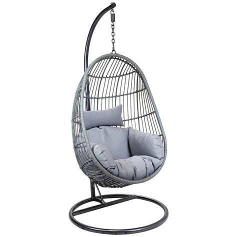 egg shaped swing chair charles bentley egg shaped rattan swing chair buydirect4u 7034