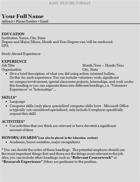 How To Write A Resume by How To Write A Resume For College Lawas