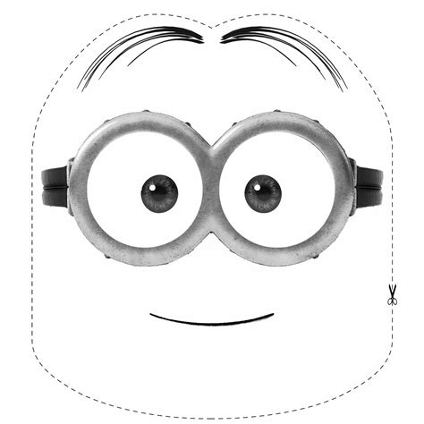 Minion Mask Template by Free Coloring Pages Of Minion Mask