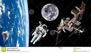 Earth Satellite Astronaut Space Stock Photo - Image: 43058443