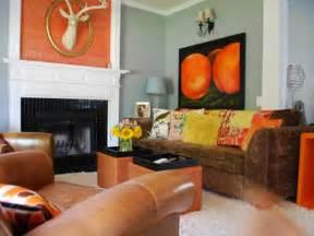 orange livingroom 10 colorful tile fireplaces hgtv