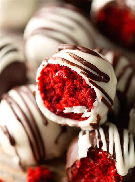 red velvet cake truffles julies eats treats