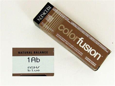 Redken Natural Balance Hair Color Fusion 1ab Ash/blue Dye