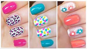 3 Cute Nail Art Designs for Spring/Summer - #2 - YouTube