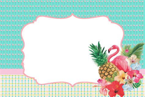 Convite no tema flamingo - Decorando Minha Festa