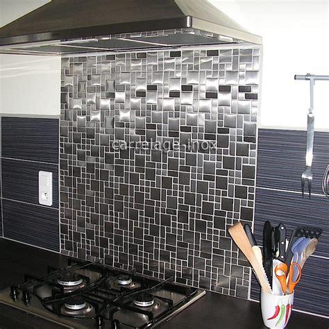 les fonds de cuisine mosaïque inox 1m2 carrelage inox fond de hotte laska