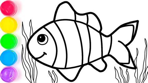 gambar ikan untuk di warnai