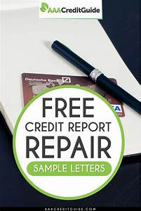 Free credit repair sample letters for 2017 credit report for Letters to fix credit