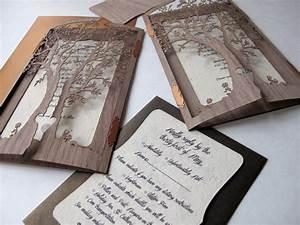 laser cut tree wedding invitations wedding ideas and With wedding invitation tree wood laser cut