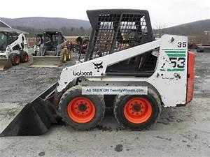 2001 Bobcat 753 Skid Steer Loader Kubota Diesel 43  5hp Aux Hyds Good Tires Video