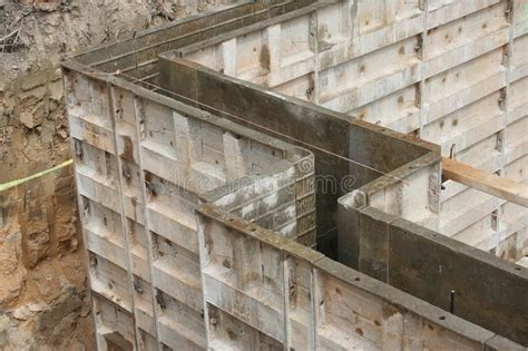 basement wall forms wall forms molds for concrete stock photo image of