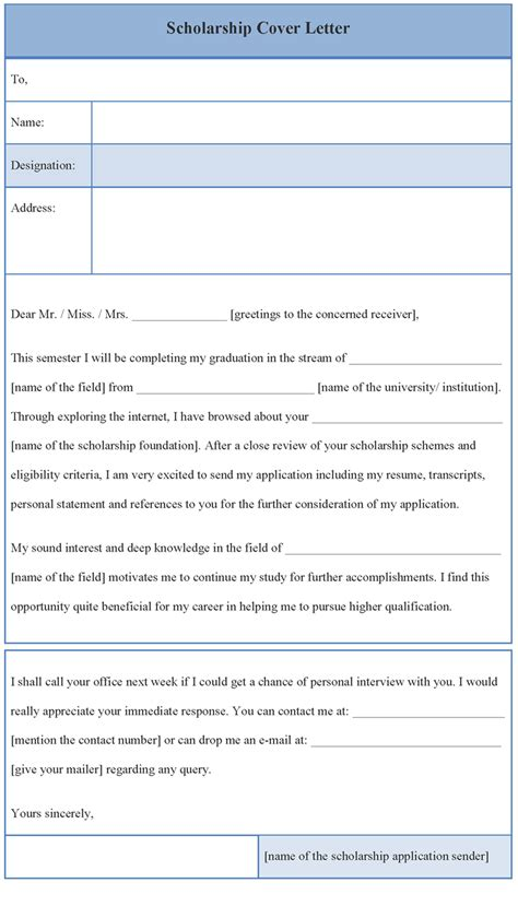 Scholarship Cover Letter Exles by Cover Letter Template For Scholarship Sle Of