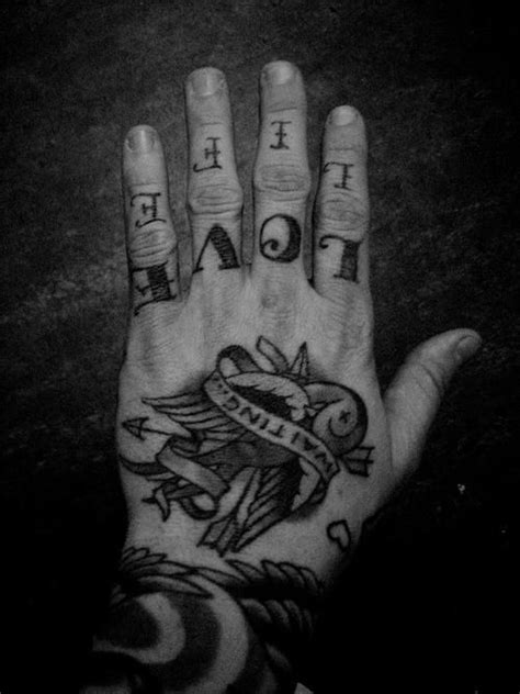 Love Life | Knuckle tattoos, Tattoos for guys, Hand tattoos for guys