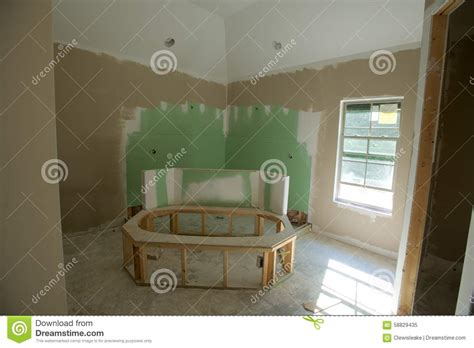 home bathroom remodeling project stock photo image