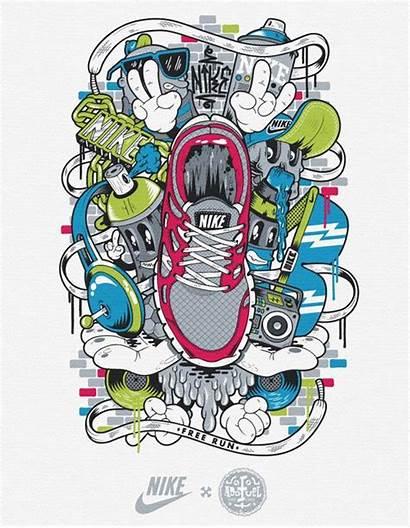 Nike Shirt Graphics Behance Graffiti Graphic Designs