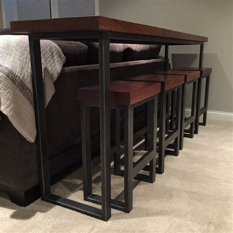 custom  metal stool  wood top  bord custommadecom