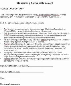 it consulting contract template - consultant agreement contract template 28 images 10