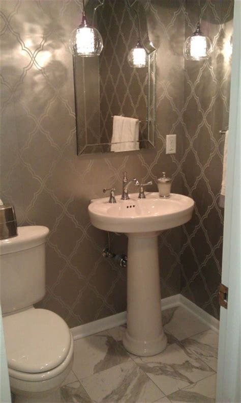small bathroom wallpaper ideas  pinterest