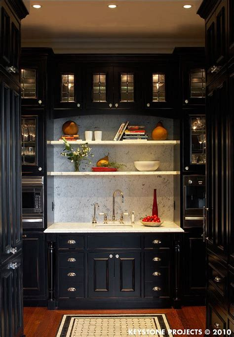 Black Kitchen Pantry by Butler S Pantry Black Cabinets Pantry For The Butler Or