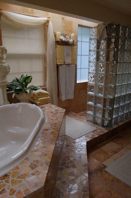 glass block shower  door  home glass