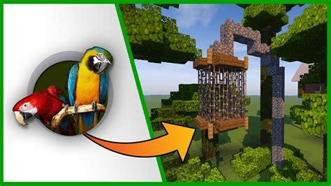 come costruire una gabbia come costruire una gabbia per i pappagalli minecraft